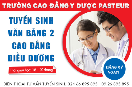 Trường Cao đẳng Y Dược Pasteur địa chỉ đào tạo Văn bằng 2 Cao đẳng Điều dưỡng