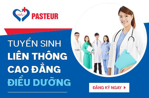 Trường cao đẳng Y Dược Pasteur tuyển sinh liên thông Cao đẳng Điều dưỡng cấp bằng sau 15 tháng