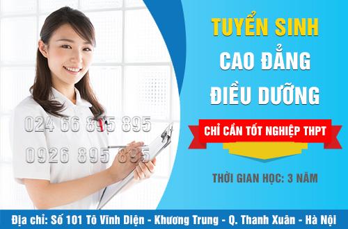 Cao đẳng Điều dưỡng tuyển thí sinh tốt nghiệp THPT