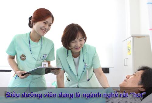 """Điều dưỡng viên đang là ngành nghê rất """"hot"""""""