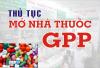 Một số thủ tục cần thiết để mở nhà thuốc đạt chuẩn GPP