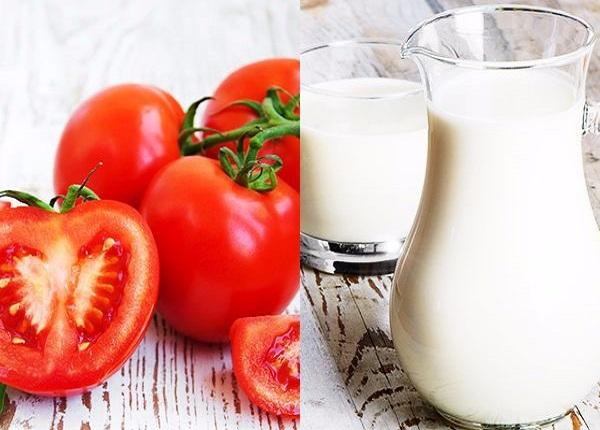 Mặt nạ cà chua và sữa tươi