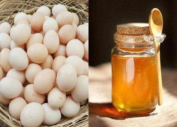 Mặt nạ lòng trắng trứng và mật ong