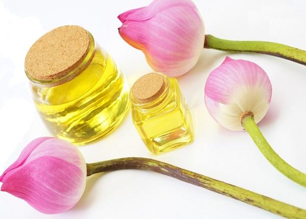 Tinh dầu hoa sen giúp kháng khuẩn và chống viêm cải thiện tình trạng mụn viêm